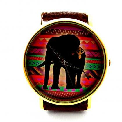Elephant leather wrist watches, wom..