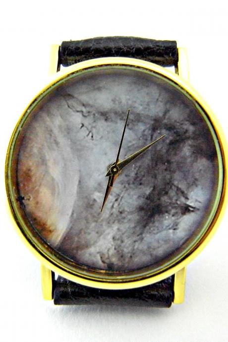 Galaxy Space leather wrist watches, woman man lady unisex watch, genuine leather handmade unique watch #16